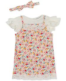 Baby Girls Floral-Print Jumper Set