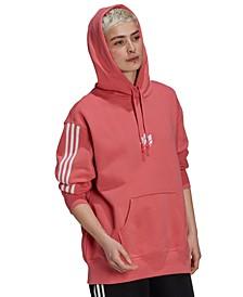 Women's Cotton 3-Stripe Hoodie