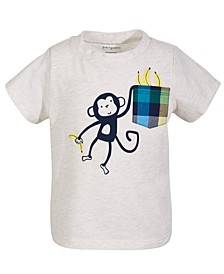 Toddler Boys Monkey Pocket Cotton T-Shirt, Created for Macy's