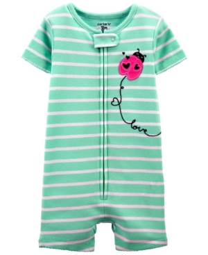 Carter's Pajamas TODDLER GIRLS LADYBUG SNUG FIT ROMPER PAJAMA SET
