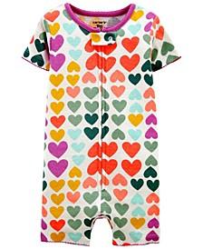 Toddler Girls Hearts Snug Fit Romper Pajama Set