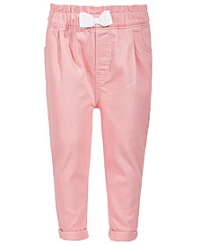 Toddler Girls Pink Denim Bow Jeans, Created for Macy's