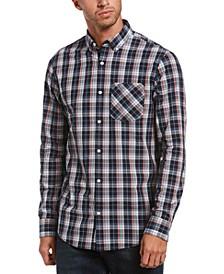 Men's Slim-Fit Stretch Plaid Shirt