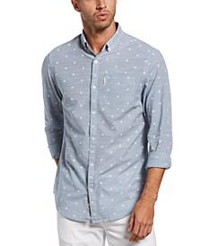 Men's Slim-Fit Ditsy Floral-Print Shirt