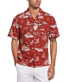 Men's Aloha Tropical-Print Camp Shirt