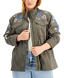 Plus Size Embroidered Jacket, Created for Macy's