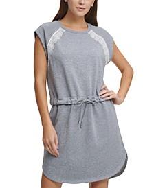 Tie-Waist Sweatshirt Dress