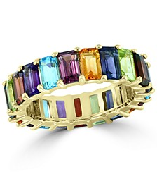 EFFY® Multi-Gemstone Emerald-Cut Band (7-1/2 ct. t.w.) in 14k Gold