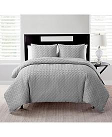 Nina Embossed Comforter Set, King