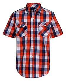 Big Boys Peter Three Color Check Short Sleeve Woven Shirt