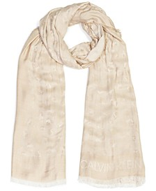 Leopard Chambray Wrap Scarf