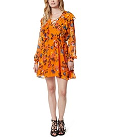 Barry Lace-Up Floral Print Dress