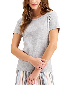 Ribbed-Knit Pajama T-Shirt, Created for Macy's