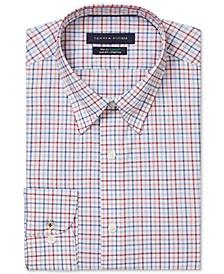 Men's Big & Tall Slim-Fit Non-Iron TH Flex Performance Stretch Check Dress Shirt