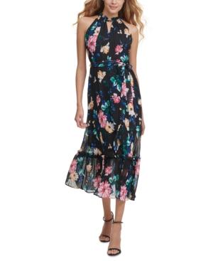 Ruffled Halter Midi Dress