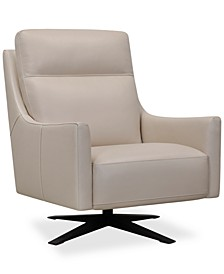 """Paxten 29"""" Leather Swivel Chair, Created for Macy's"""