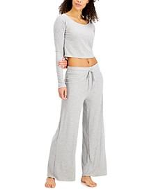 Rib-Knit Sleep Top & Pants, Created for Macy's