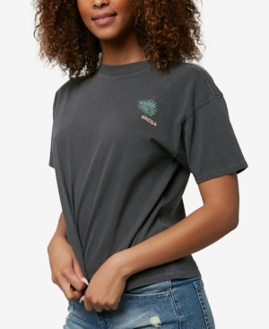 O'neill Juniors' Electric Jungle Cotton T-shirt In Washed Black