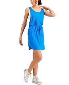 Sleeveless Drawstring Colorblocked Dress