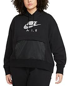 Air Plus Size Women's Graphic Hooded Sweatshirt