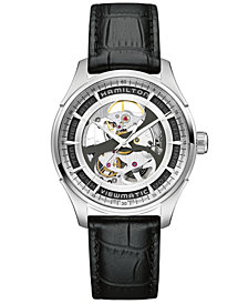 Hamilton Men's Swiss Automatic Jazzmaster Viewmatic Black Leather Strap Watch 40mm H42555751