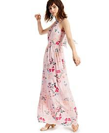 INC Floral-Print Halter-Style Midi Dress, Created for Macy's