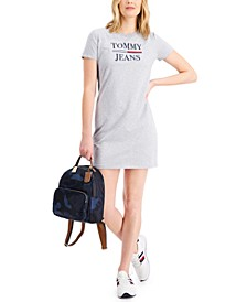 Short-Sleeve Logo Crewneck Dress