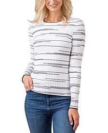 Black Label Variegated Stripe Long Sleeve Sweater