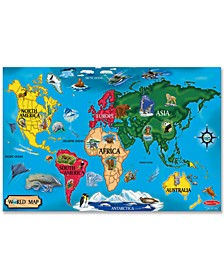 Kids Toy, World Map 33-Piece Floor Puzzle
