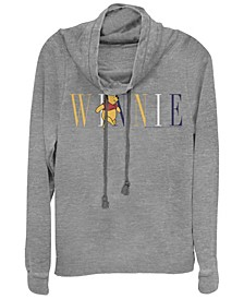 Women's Junior's Winnie The Pooh Fashion Cowl Neck Sweatshirt