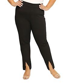 Women's Plus Size Slit Front Compression Pant
