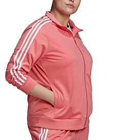 Essentials Plus Size Tricot Track Jacket