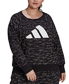 Plus Size Printed French Terry Logo Sweatshirt