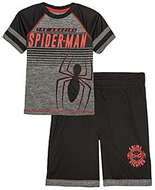 Little Boys Spiderman Active T-shirt and Shorts Set, 2 Piece
