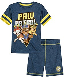 Little Boys Paw Patrol Group Active T-shirt and Shorts Set, 2 Piece