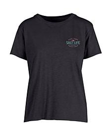Women's Salty Times Boyfriend Slub T-shirt
