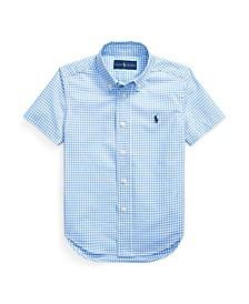 Toddler Boys Gingham Cotton Poplin Shirt