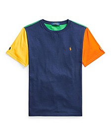 Big Boys Color Blocked Cotton Jersey Tee