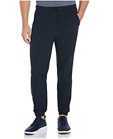 Men's Slim Fit 4-Way Stretch Ripstop Belted Jogger Pant