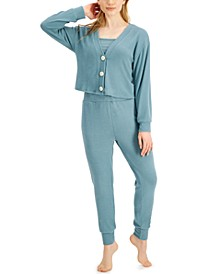V-neck Cardigan, Sleep Tank Top & Sleep Jogger Pants Collection, Created for Macy's