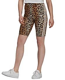 Women's Animal-Print Biker Shorts