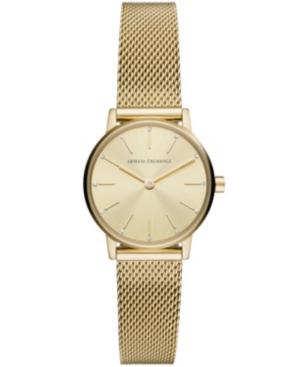 Ax Women's Gold-Tone Stainless Steel Mesh Bracelet Watch 28mm