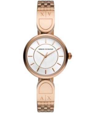 Ax Women's Rose Gold-Tone Stainless Steel Bracelet Watch 32mm