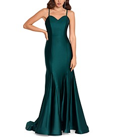 Juniors' Strappy-Back Mermaid Gown, Created for Macy's
