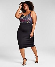 Trendy Plus Size Scuba Zip Skirt, Created for Macy's