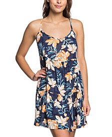 Juniors' Sand Dunes Printed Cover-Up Dress