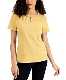 Pleated-Yoke Cotton Top, Created for Macy's