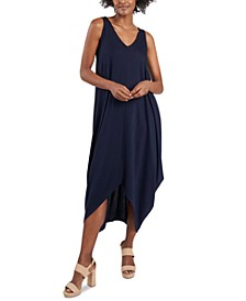 Handkerchief-Hem Maxi Dress