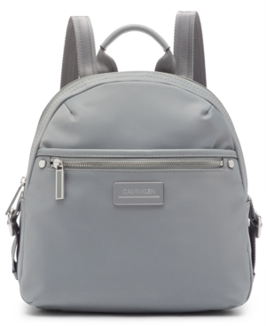 Calvin Klein Sussex Nylon Backpack In Grigio