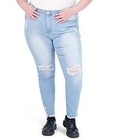 Trendy Plus Size Super-High-Rise Curvy Jeggings